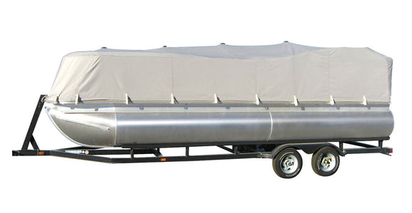 Pyle PCVHP442 Armor Shield Trailer Guard Pontoon Boat Cover 25'-28'L Beam Width to 96''