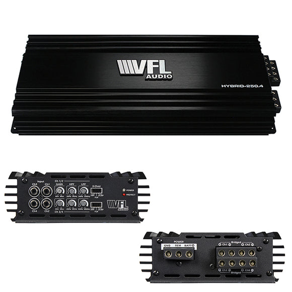 VFL Audio VFLHYBRID2504 4 Channel 1000 watt Hybrid Amplifier