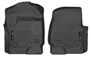 Husky 13301 Liners Front Floor Liners for 2017-2020 Ford F250/F350/F450- Black