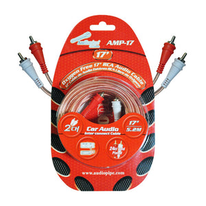 Audiopipe AMP17 17' Installer Series RCA Cable