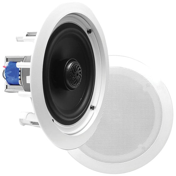 Pyle PDIC60T PDIC InWall/Ceiling 2Way Flush-Mount Speakers w/ 70Volt Transformer
