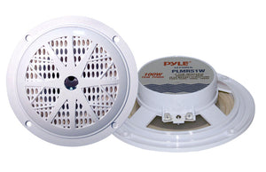 Pyle PLMR51W Dual 5.25'' Waterproof Marine Speakers, 2-Way Full Range Stereo Sound, 100 Watt, White (Pair)