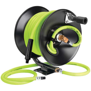 Flexzilla L8650FZ Manual Air Hose Reel Open Face Fixed Heavy Duty 3/8In X 50Ft
