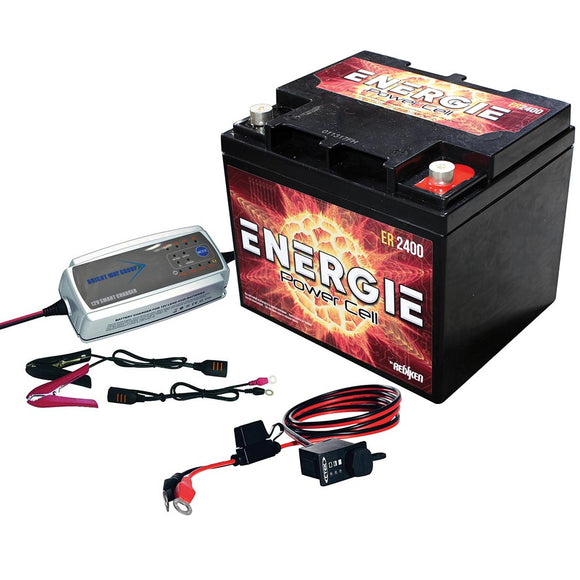 Energie EPK1200 UTV Power Up Kit 1200 Watts ER2400 w/ Desulfating Charger