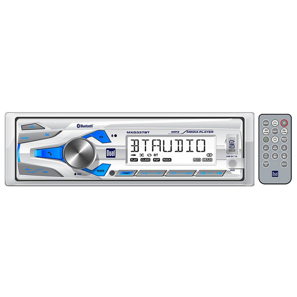 Dual MXD337BT Single DIN Marine In-Dash Receiver w/Bluetooth