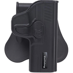 Bulldog RRG43 Rapid Release Polymer Holster With Paddle Right Hand Only