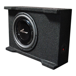 "Audiopipe APSB10BDF Single 10"" Shallow Mount Downfire Loaded Enclosure 400 Watts"