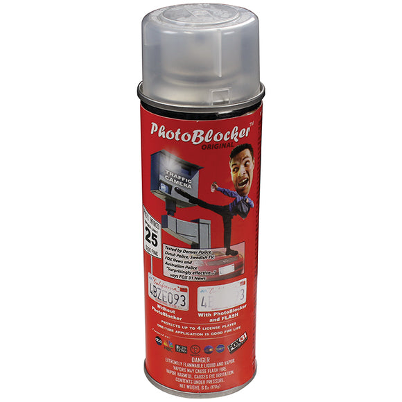 Street Vision License Plate Protective Spray-6 oz. can SVPBLOCKSPRAY