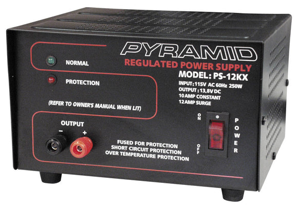 Pyramid PS12KX 13.8 VOLT 10 AMP Power Supply