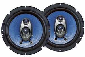 Pyle PL63BL 6.5-Inch 360W Three-Way Speakers (Pair)