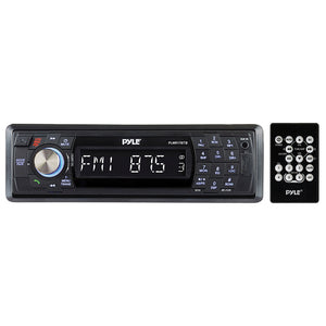 Pyle PLMR17BTB Black Mechless Bluetooth Marine Stereo w/ Aux Input, USB & SD Reader
