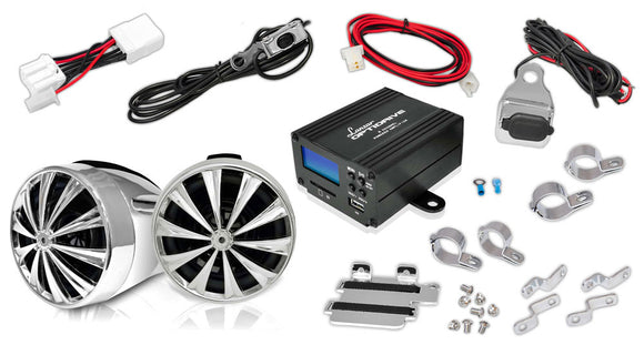 Lanzar OPTIMC80 700 Watt Motorcycle Sound Kit