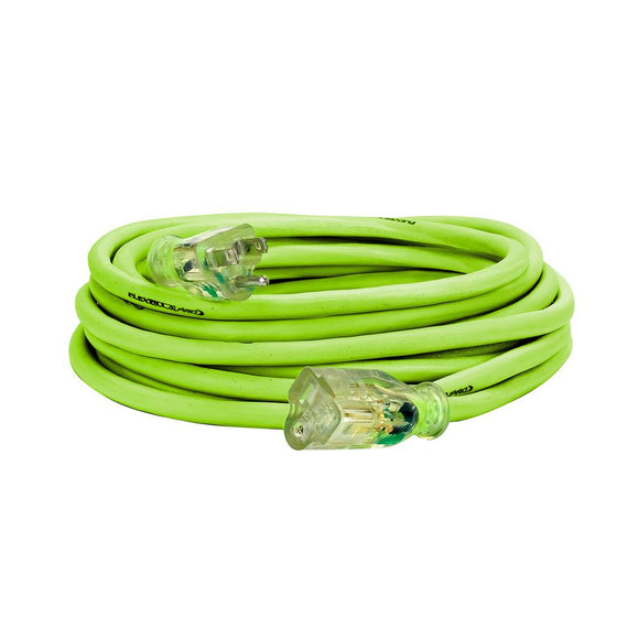 Flexzilla FZ512725 Pro Extension Cord 14/3 Awg Sjtw 25Ft Outdoor Lighted Plug