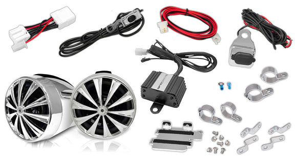 Lanzar OPTIMC90 700 Watt Motorcycle Sound Kit