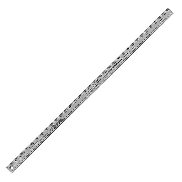 Mayes 10189 36 Inch x 1 Inch Aluminum Ruler
