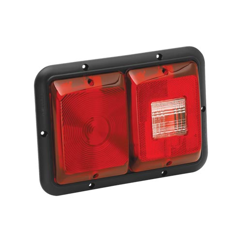 Bargman 3484008 Taillight 84 Recessed Double Horizonal Mount Red Backup