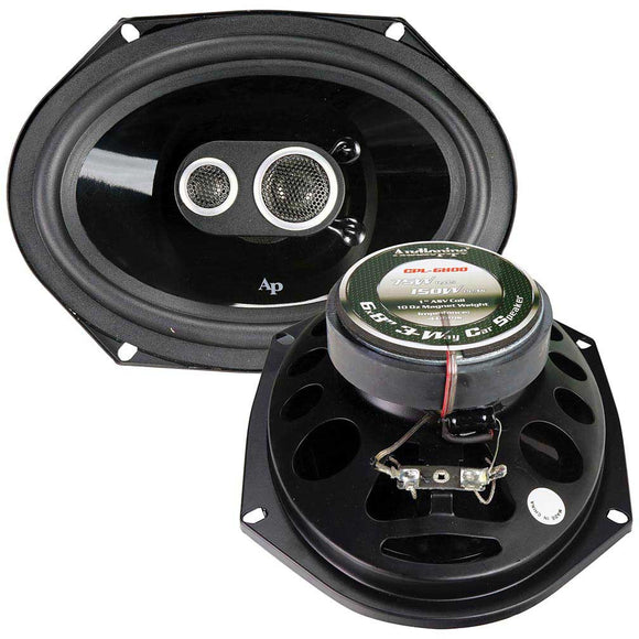 Audiopipe CPL6800 6x8 3-Way Car Speaker