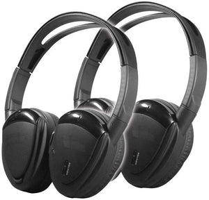Power Acoustik HP902RFT Wireless Dual Channel RF Headphone Package