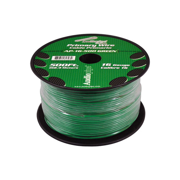 Audiopipe AP16500GR 16 Gauge 500Ft Primary Wire Green