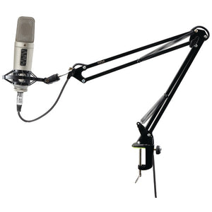 Pyle PMKSH01 Universal Table Clamp Boom Shock Microphone Mount