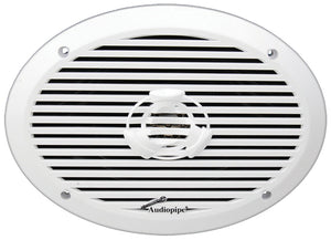 "Audiopipe APSW6932 6x9"" 2-Way Marine Speaker 300W Max White"
