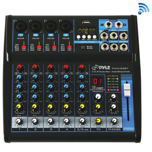 Pyle PMXU63BT 6-Channel Bluetooth Studio Mixer