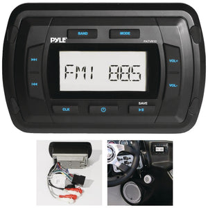 Pyle PATVR10 Marine Dash-Panel Mechless Receiver with Bluetooth