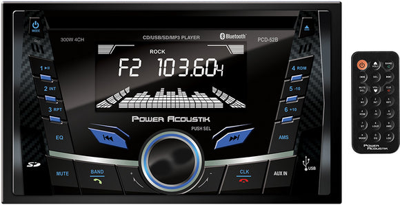 Power Acoustik PCD52B Double Din AM/FM/CD/USB/BT