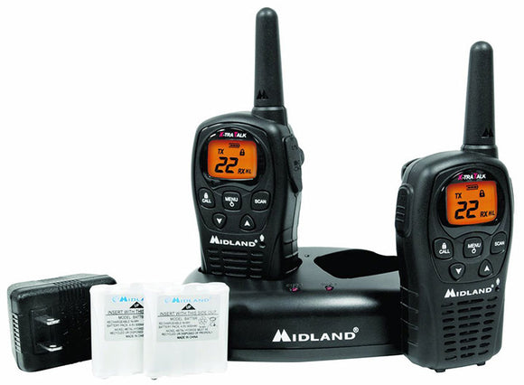 Midland LXT500VP3 22-Channel GMRS with 24-Mile Range Black