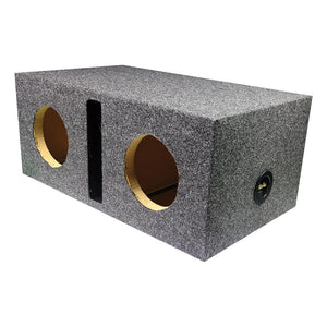 "Qpower QHD265V Dual Sealed 6.5"" Heavy Duty Woofer Box Vented"