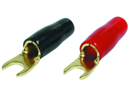 Audiopipe PBTS4 Spade Terminals 4ga. Gold Plated (4 pack)