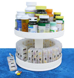 North American Health Care Pill Organizer 31 pill holders Rotates 360 degrees