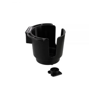 Scotty 0310BK Cup Holder with Bulkhead/Gunnel Mount, Black