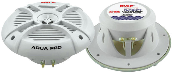 Pyle PLMRX77 7.7'' 280 Watt 2 Way Marine Speaker pair