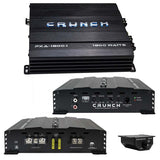 Crunch PXA18001 Mono Amp 1800 Watt 2 Ohm Stable with Bass Remote