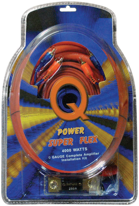 Qpower 0 Gauge Amp Kit Super Flex - 0GAMPKITSFLEX
