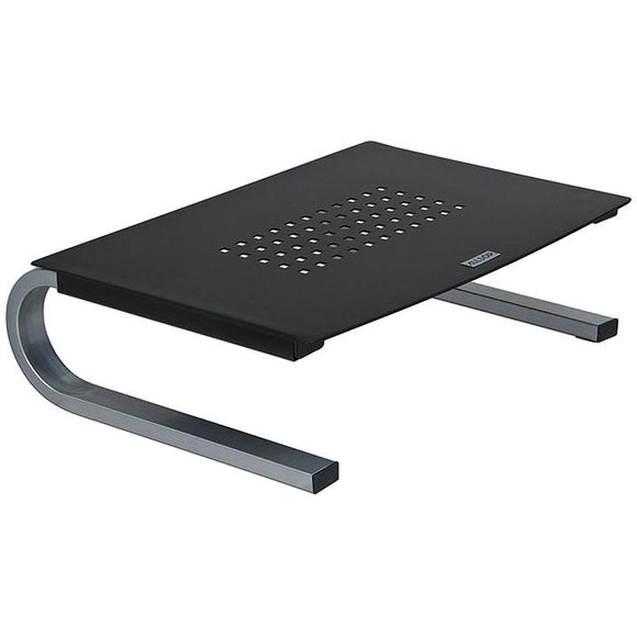 Allsop 29248 Redmond Monitor Stand holds 40 lbs with keyboard space Black