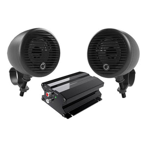 "Planet Audio PMC2B Motorcycle/ATV System w/ Bluetooth pair of 3"" Black Speakers"