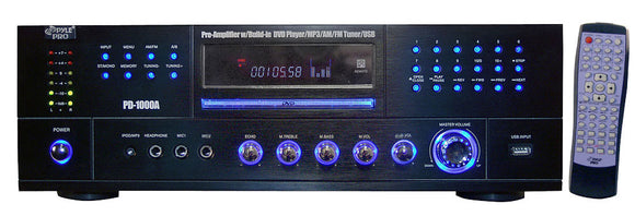 Pyle PD1000A Home Preamp Receiver DVD/CD/MP3 Player