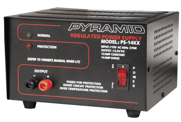 Pyramid PS14KX 13.8 VOLT 14 AMP Power Supply