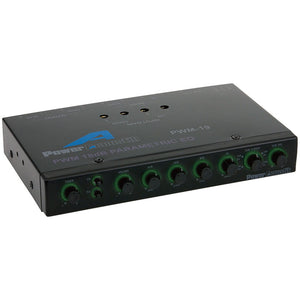 Power Acoustik PWM-19 Pre Amp Equalizer with Subwoofer Gain Control and Four Way Fader