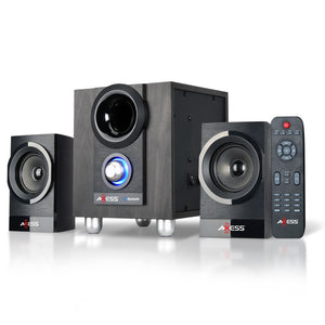AXESS MSBT3907 2.1 Bluetooth Micro Sound System with FM and USB SD Card RCA