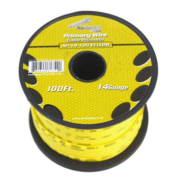 Audiopipe AP14100YW 14 Gauge 100Ft Primary Wire Yellow