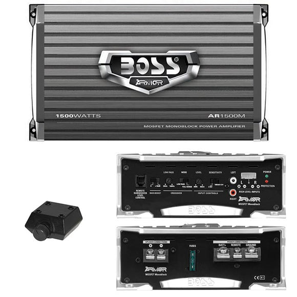 Boss AR1500M ARMOR 1,500-Watt Mono Mosfet Amplifier