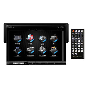 "Power Acoustik 7"" Touch Screen Receiver TFT/LCD DVD AM/FM Bluetooth A2DP"