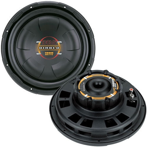 BOSS AUDIO D12F  Phantom 12 inch Single Voice Coil (4 Ohm) 1000-watt Subwoofer