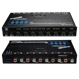 Audiopipe EQ400BT 4 Band Stereo Equalizer/Crossover with Bluetooth 9 volt output