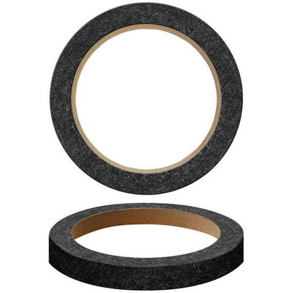 Nippon RING06CBK 6� MDF Speaker Rings with black carpeting (pair)