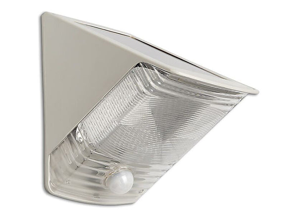 Maxsa 40235 Solared Power Motion Activated Wedge Light - Off White