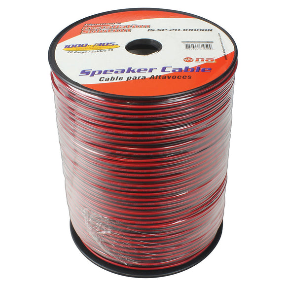 Installation Solutions ISSP161000BR Speaker Cable 1000FT-black and red jacket